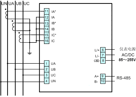 所有电量参数led数码管实时显示;      ● 安装方式:采用盘装